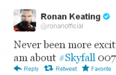 Tweet Sweeper: Ronan Keating is really, really excited