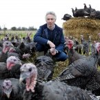 Gerry McEvoy working on his turkey farm today in Sallins, Co. Kildare preparing for the Christmas season.