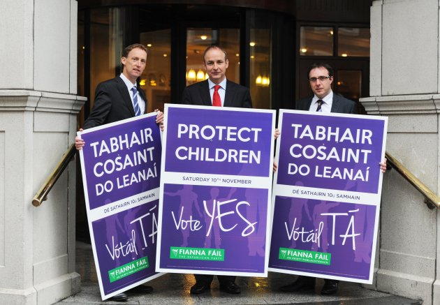 23/10/2012. Fianna Fail to Launch Yes Campaign i