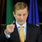 Taoiseach Enda Kenny pictured at Dublin Castle prior to a meeting to discuss the priorities of the Irish EU Presidency beginning in the new year. 