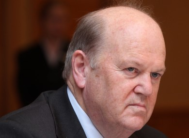 Minister for Finance Michael Noonan TD (file photo).