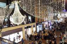 In pictures: Christmas lights turned on on Grafton Street