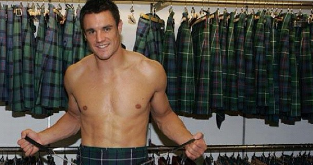 On tour: Dan Carter is absolutely loving his trip to Scotland