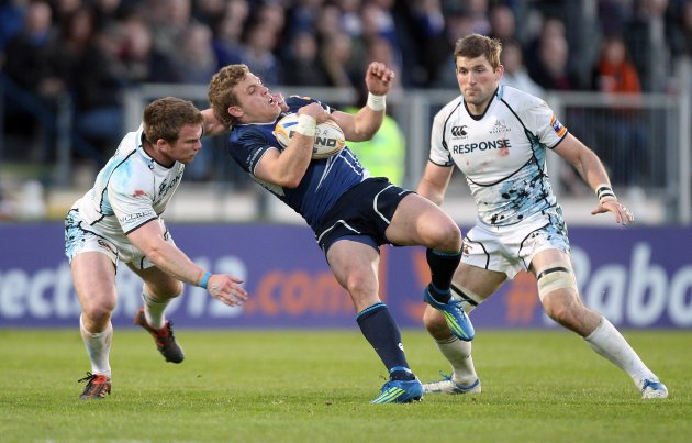 Ian Madigan tackled by Chris Fusaro 12/5/2012