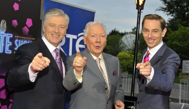 Pat Kenny, Gay Byrne and Ryan Tubridy arriving on