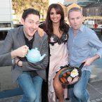 Lovely girl Nadia Forde helped Ray and JP to kick off the show. (Brian McEvoy)