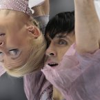 Tatiana Volosozhar and Maxim Trankov, of Russia, perform their free program during the ISU Grand Prix Rostelekom Cup event, in Moscow, Russia. (AP Photo/Ivan Sekretarev)