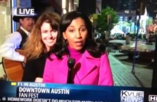 Video: How to deal with a drunk person videobombing your live TV report
