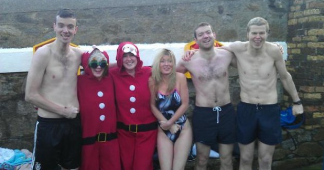 In pictures: Braving the cold at the 40 foot on Christmas Day