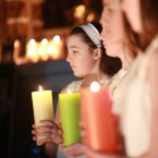 Light bearer Rachel Young (age 13) at the Christmas Celebration of Light organised by national suicide prevention and bereavement charity Console. Picture Conor McCabe Photography.