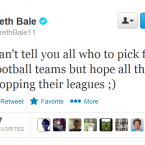 Gareth Bale may not have Fantasy Football psychic powers, but he's worth a follow nonetheless.