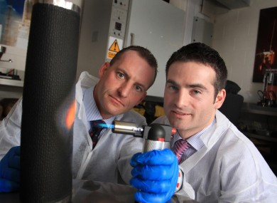 Enbio's Nigel Cobbe and Dr James Carton.