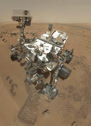mars curiosity selfie