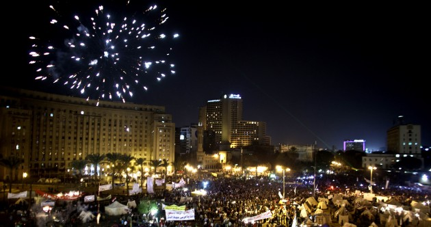 Pics: Tens of thousands of Egyptian protesters encircle presidential palace