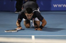 VIDEO: Djokovic narrowly escapes serious injury in Australia