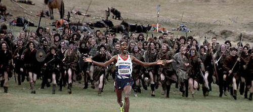 Mo Farah Running Away