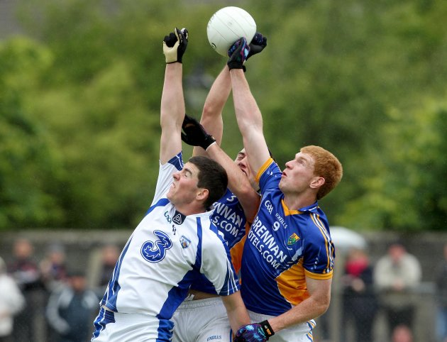 Peadar Burke and Anthony McLoughlin tackle Paul Whyte 30/6/2012