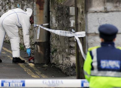 Gardai investigating the fatal shooting of Christopher Warren examine a lane in the Broadstone area near Constitution Hill.