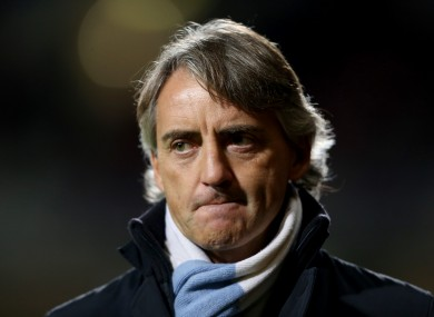 Roberto Mancini's side face a crucial fixture this weekend.
