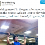 Rory McIlroy hit the gym hard to bulk up this year. 