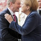 Meeting German chancellor Angela Merkel. Pic: Laura Hutton/Photocall Ireland