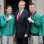 And the rest of Ireland's Olympic medal-winning boxers. Pic: Laura Hutton/Photocall Ireland