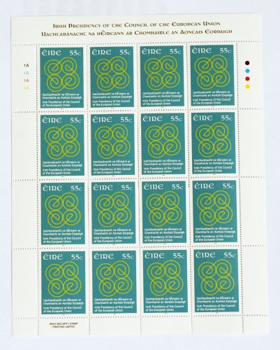 17/01/2013 Commemorative stamps. A sheet of the co