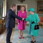 Meeting Her Majesty Queen Elizabeth II. Pic: Photocall Ireland