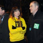 (Pictured LtoR) Senator Ronan Mullen, Aoife Brauders from Youth Defence and Tyrone GAA manager Mickey Harte. Photo: Laura Hutton/Photocall Ireland