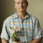 Bill Murray with some flowers. (Photo by Chris Pizzello/Invision/AP)