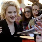 Evan Rachel Wood pictured at this year's Sundance festival. She's married to Jamie Bell and her latest film is
