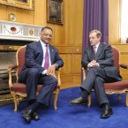 Meeting the American civil rights leader Jessie Jackson. Pic: Sasko Lazarov/Photocall Ireland