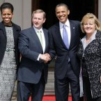 Meeting the Obamas. Pic: Photocall Ireland/GIS