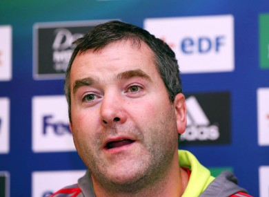 Munster forwards coach Anthony Foley.