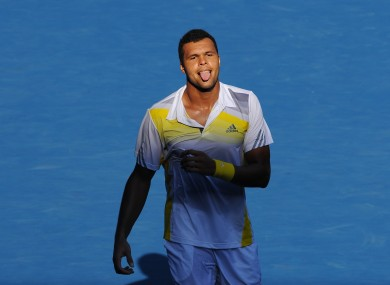 France's Jo-Wilfried Tsonga.