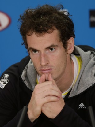 Britain's Andy Murray listens to a question in a press conference after his loss to Serbia's Novak Djokovic in the men's final at the Australian Open.