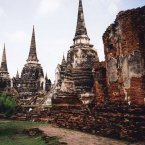 The island Ayutthaya, the capital of Thailand for over 400 years, was often referred to as the most beautiful city in the world by the diplomats who traveled there.