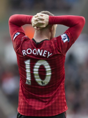 Rooney is currently suffering from a knee problem.