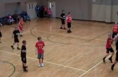 VIDEO: 8-year-old makes ridiculous over-the-head, backwards buzzer-beater
