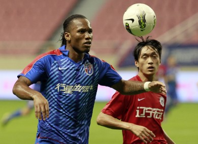 Drogba in action for Shanghai Shenhua.