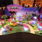 Toymaker Cra-Z-Art empowers girls and boys to build their worlds with light using Lite Brix construction sets seen at CES Showstoppers in Las Vegas, Nevada. (Photo by Al Powers/Invision for CRA-Z-ART/AP Images)
