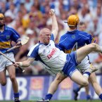 Mullane catches the ball ahead of Tipperary's Paul Ormonde during Waterford's three-point win.