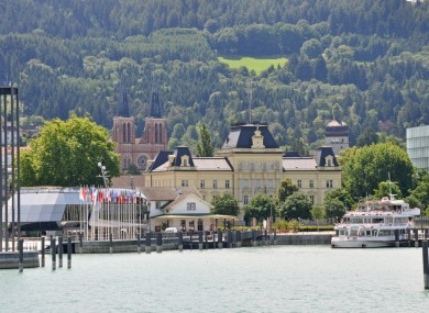 View of the port of Bregenz
