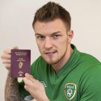 With his Irish passport. Credit: Sportsfile