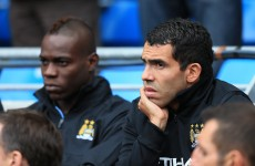 Carlos Tevez gives guiding hand to Balotelli