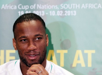 Drogba is currently on international duty with the Ivory Coast at the African Cup of Nations.