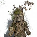 A man dressed as a  'Trapajon' representing entities of the nature poses for a picture after taking part in the Vijanera Festival in Silio, northern Spain. The Vijanera masquerade, of pre-Roman origin, is the first carnival of the year in Europe symbolising the triumph of good over evil and involving the participation of crowds of residents wearing different masks, animal skins and brightly coloured clothing with its own complex function and symbolism and becoming the living example of the survival of archaic cults to nature. (AP Photo/Daniel Ochoa de Olza)