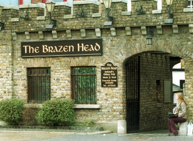 The Brazen Head in Dublin, Ireland's oldest pub.