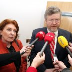 Minister for Health, James Reilly TD, and Minister of State, Department of Health and Department of Justice, Equality and Defence, Kathleen Lynch TD, talking to the media at the opening of the new 54-bed purpose built mental health facility Phoenix Care Centre in Grangegorman, Dublin, today. Photo Mark Stedman/Photocall Ireland