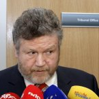 Minister for Health, James Reilly TD, talking to the media about the decision to eliminate two allowances for disabled people, the mobility allowance and motorised transport grants, at the opening of the new 54-bed purpose built mental health facility Phoenix Care Centre in Grangegorman, Dublin, today. Photo Mark Stedman/Photocall Ireland
